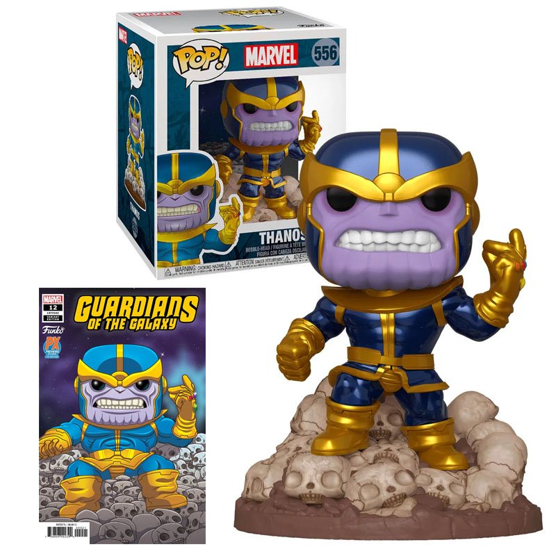Фігурка Funko POP! Marvel - Thanos (+ comics) PX Previews exclusive 15cm, арт. 439681 1