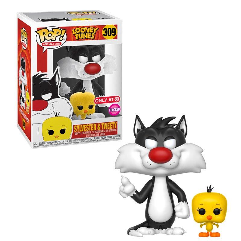 Фигурка Funko POP! Animation: Looney Tunes - Sylvester & Tweety Flocked Only AT Exclusive,арт. 46978 1