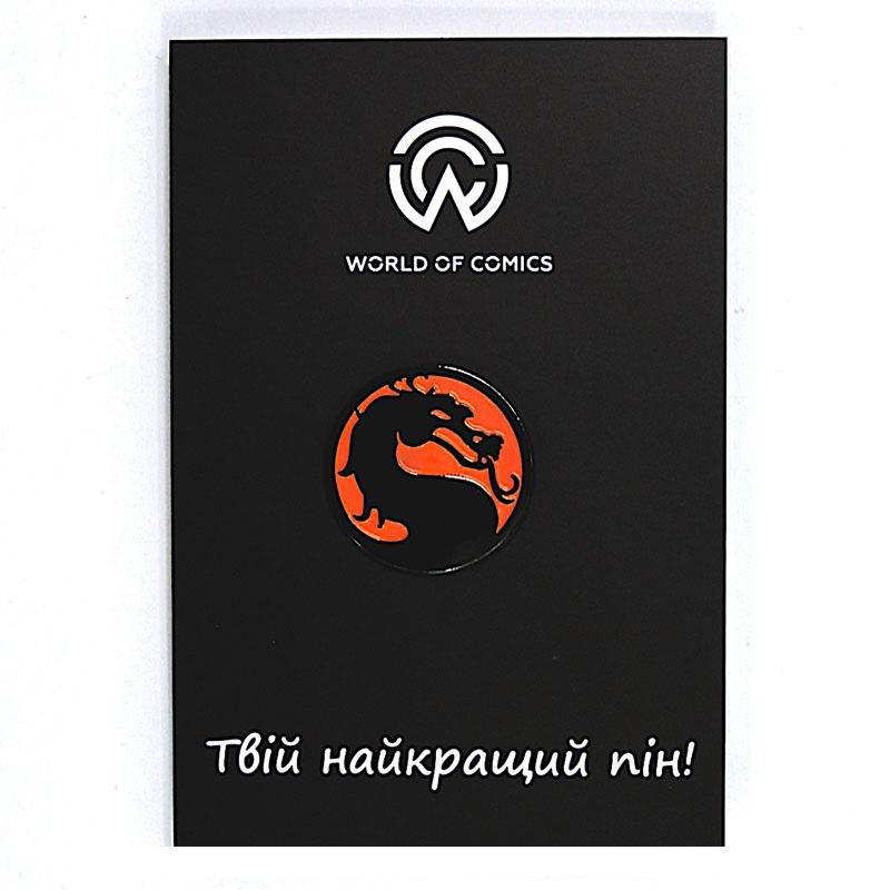 Металевий значок (пін) Mortal Kombat - Logo, арт. 10624 1