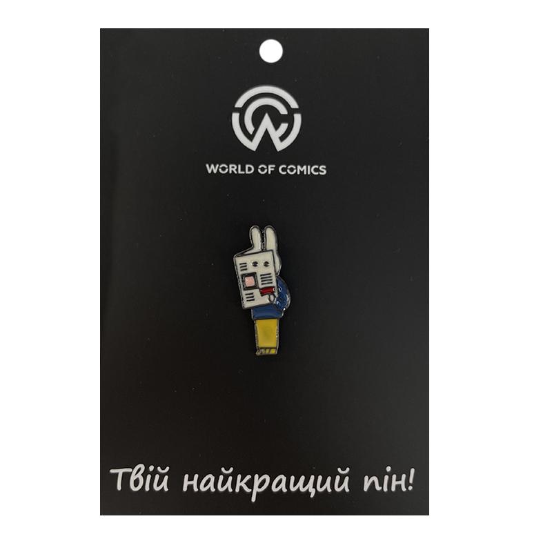 "Металлический значок (пин) Rabbit-spy ""I'm not here"", арт. 11252 1"