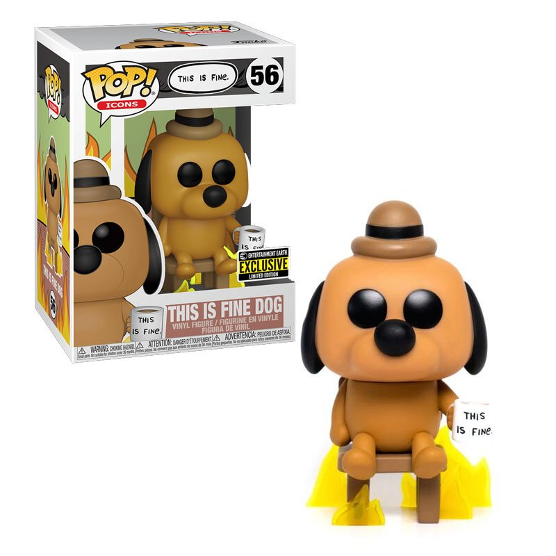 Фігурка Funko POP! Icons - This is Fine Dog Entertainment Earth Exclusive, арт. 52851 1