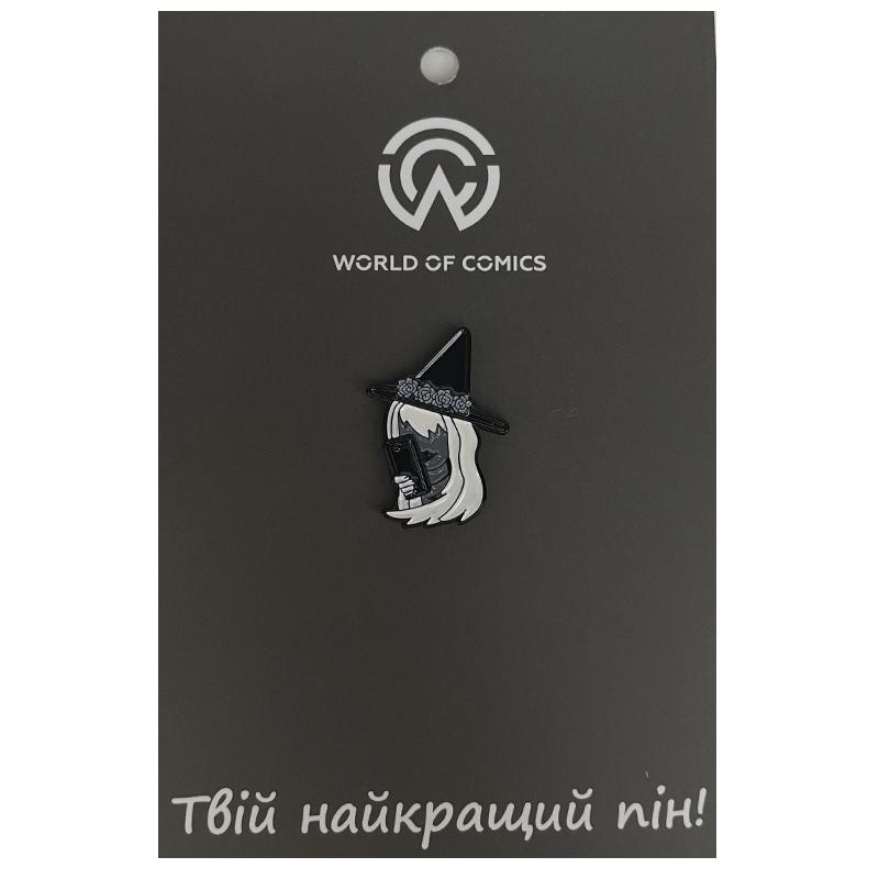 Металлический значок (пин) Witch with Phone, арт. 11149 1