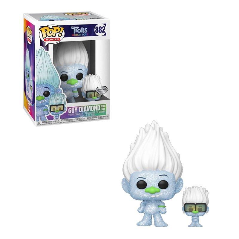 Funko POP! TWT- Hip Hop Guy (Diamond Glitter) w/ Tiny Vinyl Figure 10cm 1
