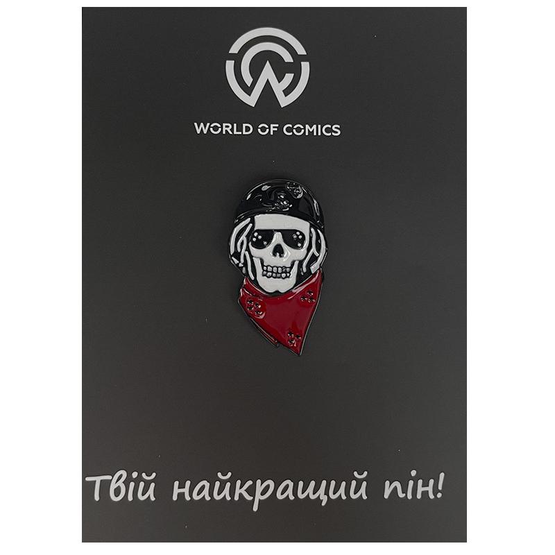 Металлический значок (пин) Skull in Bandana, арт. 11040 1