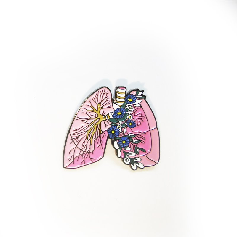 Металлический значок (пин) Lungs Flowers, арт. 10136 1