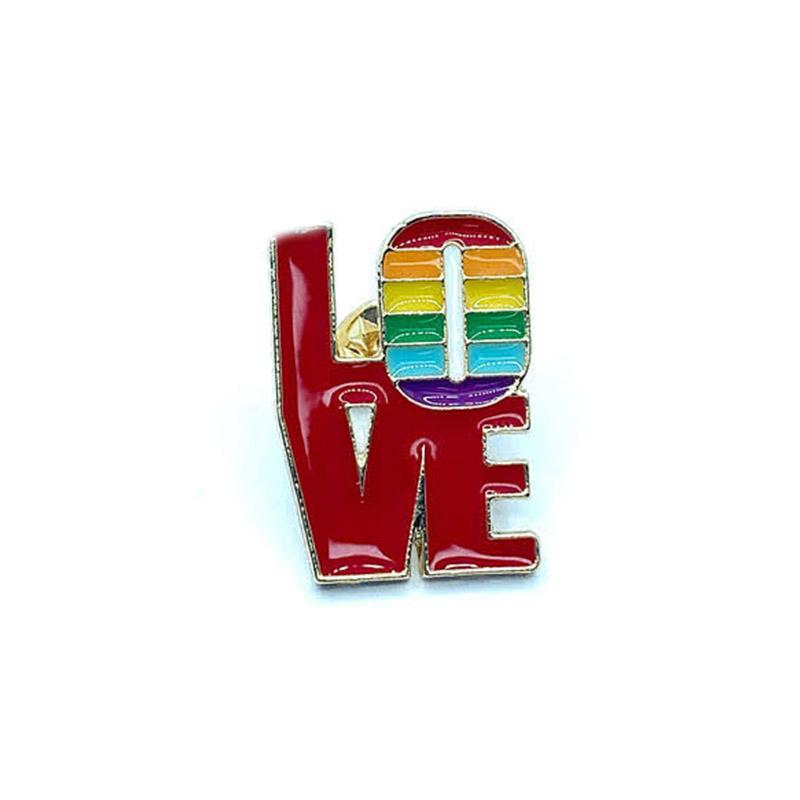 "Металлический значок (пин) Logo ""Love"", арт. 11027 1"