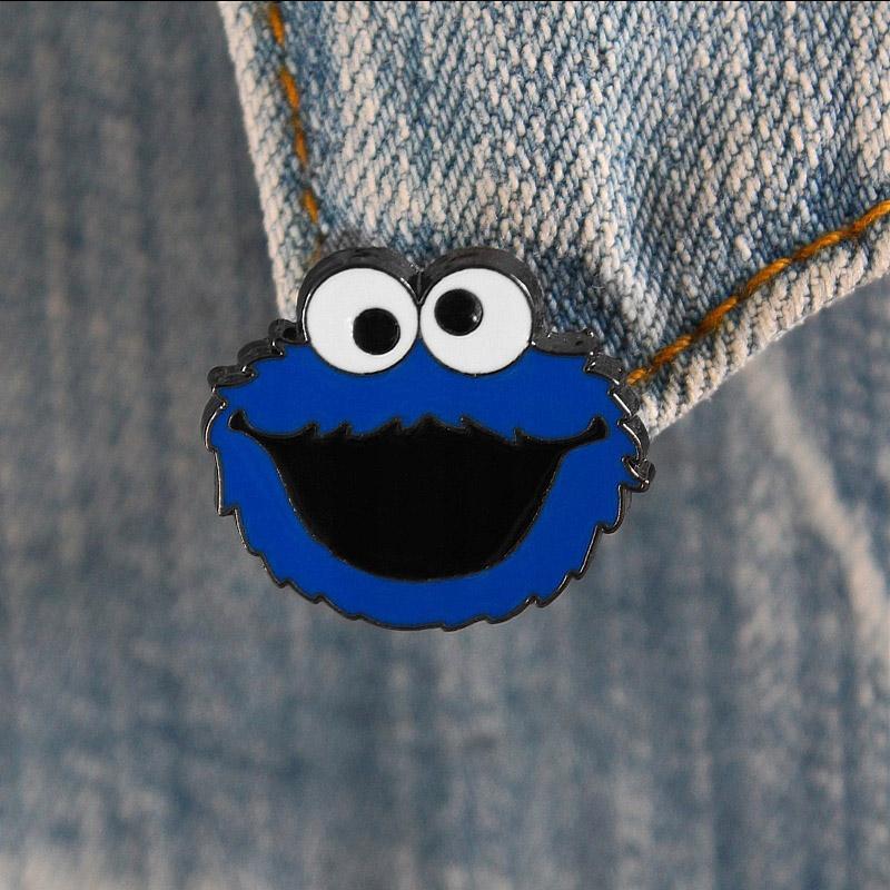 Металлический значок (пин) Sesame Street - Cookie Monster, арт. 11308 1