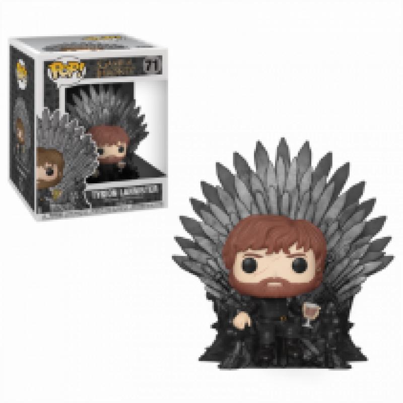 Фігурка Funko POP! Deluxe GOT S10 - Tyrion Sitting on Iron Throne Vinyl Figure, 37404 1